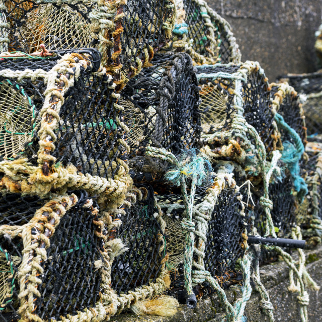 """""""Close Up Of Lobster/Crab Traps; Clifden, County Galway, Ireland"""" stock image"""