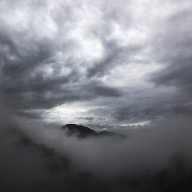 """Clouds above the swiss alps;Locarno ticino switzerland"" stock image"