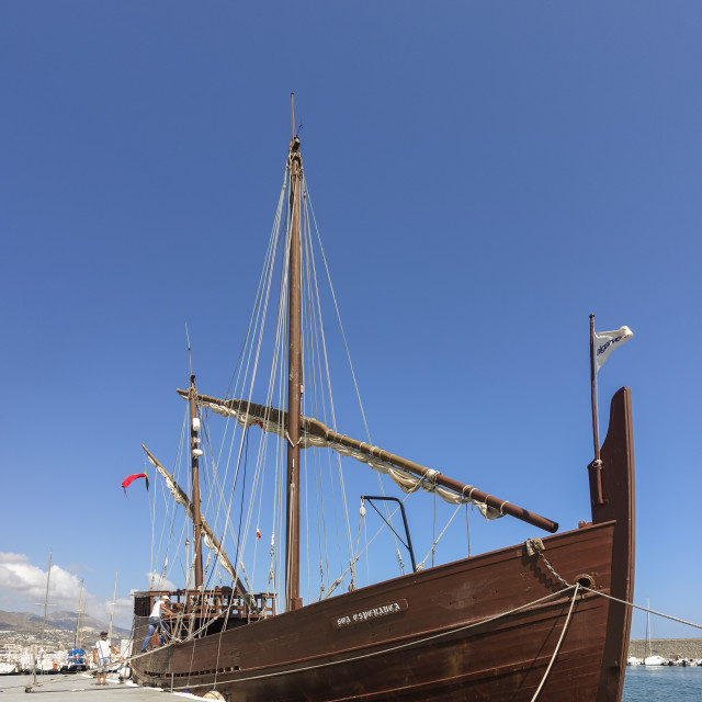 """The Caravel ""Boa Esperança portuguese"" stock image"