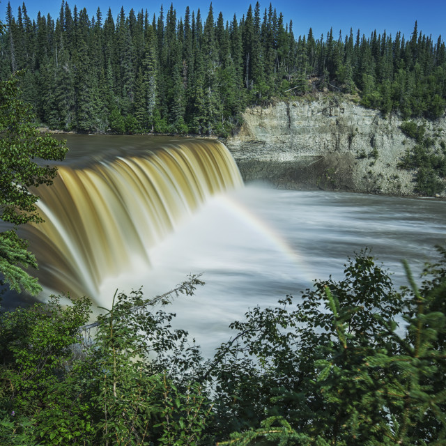 """""""Lady Evelyn Falls On The Kakisa River; Northwest Territories, Canada"""" stock image"""