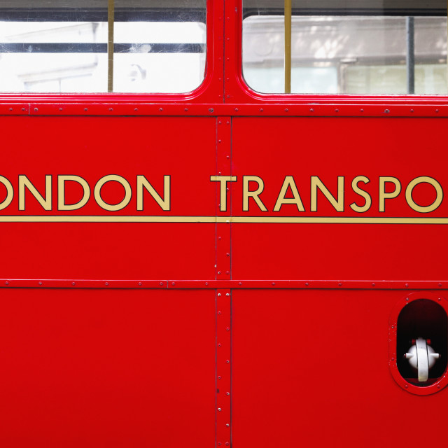 """Detail Of Routemaster Bus; London, England"" stock image"