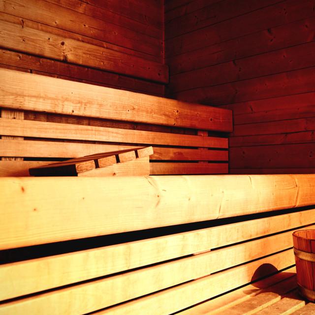 """""""Sauna and wellness"""" stock image"""