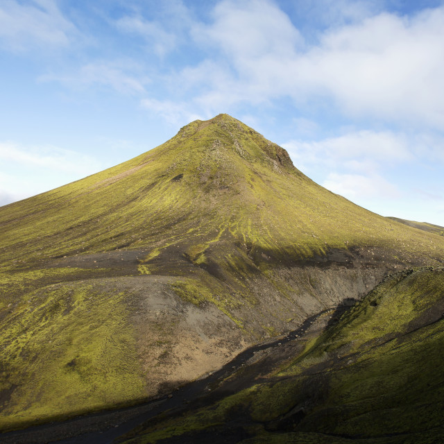 """""""Icelandic Topography In The Backroads In Southern Iceland; Iceland"""" stock image"""