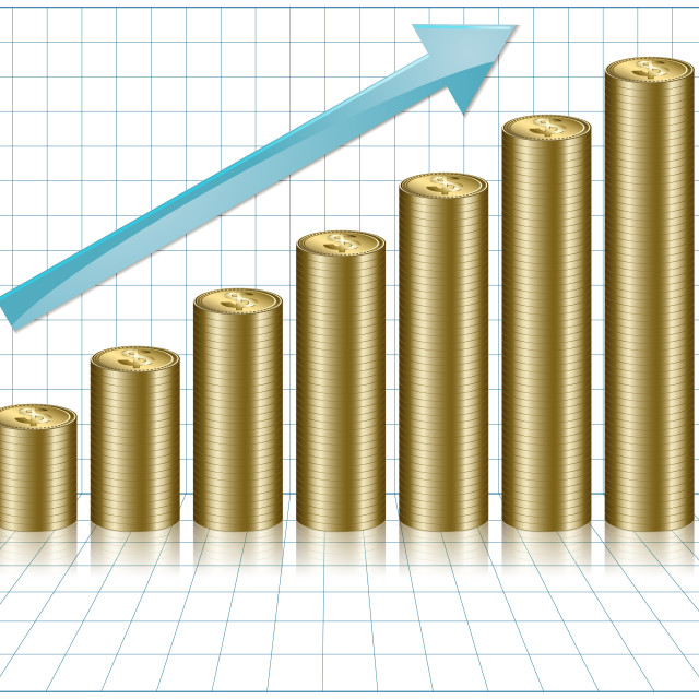 """A Graph Indicating Increasing Value"" stock image"