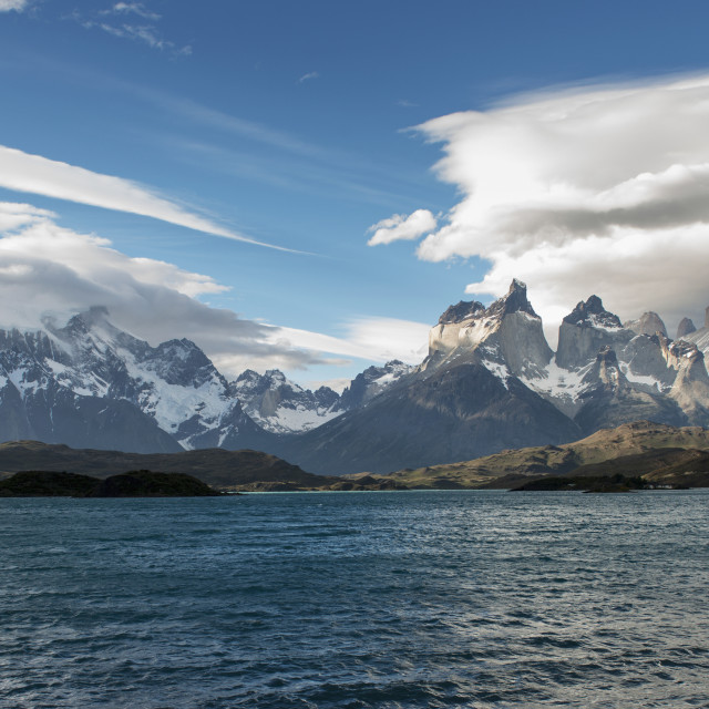 """""""Torres Del Paine National Park; Torres Del Paine, Magallanes And Antartica..."""" stock image"""