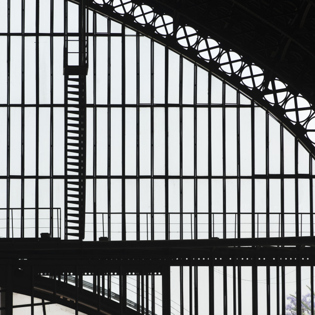 """""""Silhouette Of Steel Beams On The Framework Of Centro Cultural Estacion..."""" stock image"""