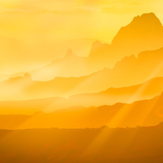 """Yellow Sunset"" stock image"