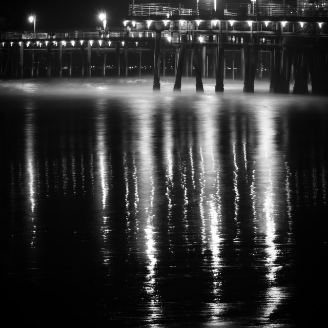 """Seashore Reflections"" stock image"