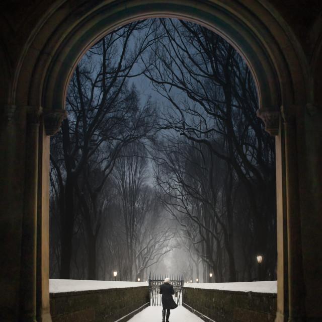 """Leaving Waldorf"" stock image"