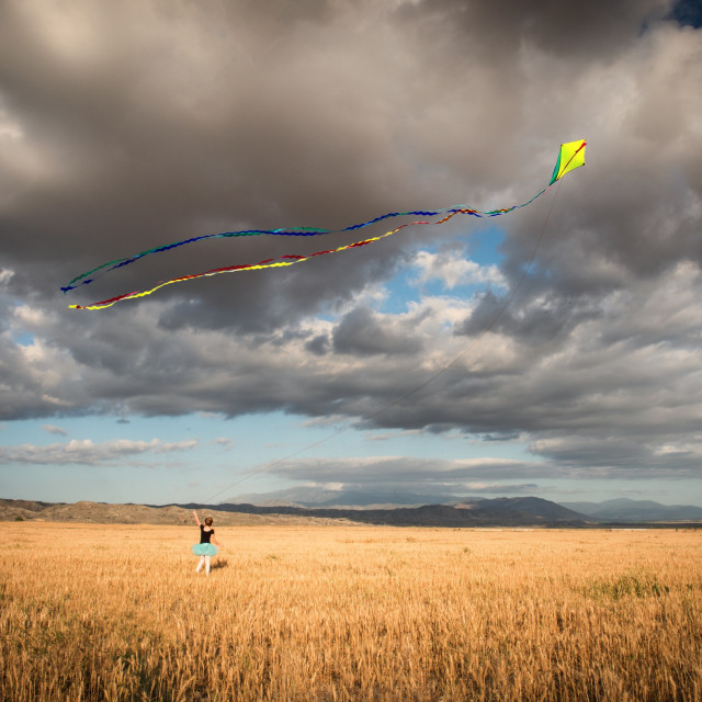 """Let's Go Fly a Kite"" stock image"