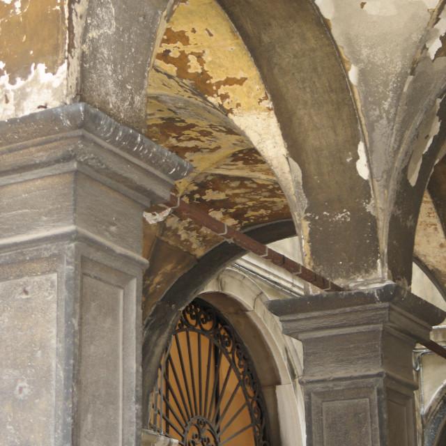 """Arches in Venice"" stock image"