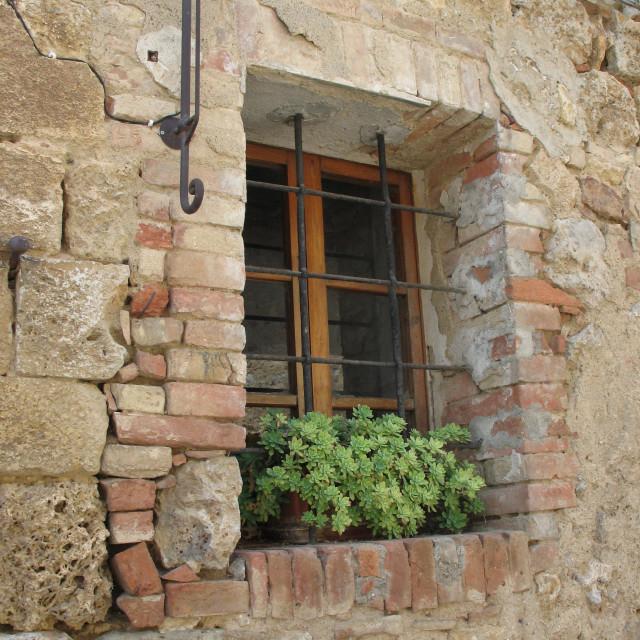 """""""Window in Monteriggioni"""" stock image"""
