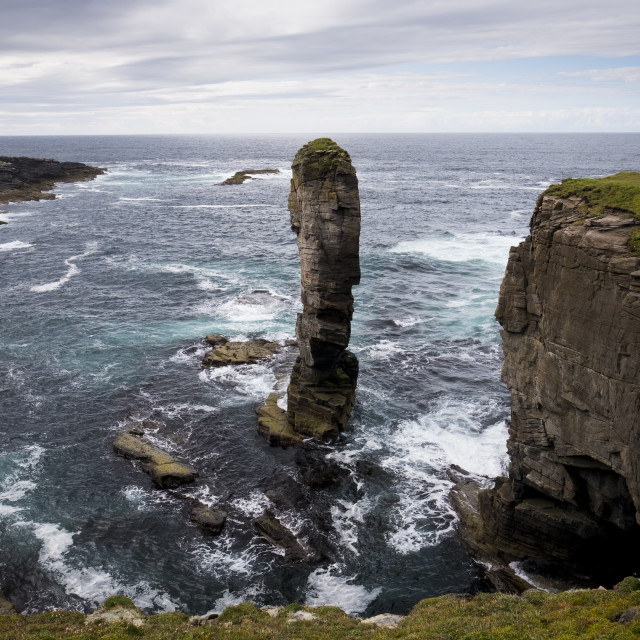 """""""Sea Stack Orkney"""" stock image"""