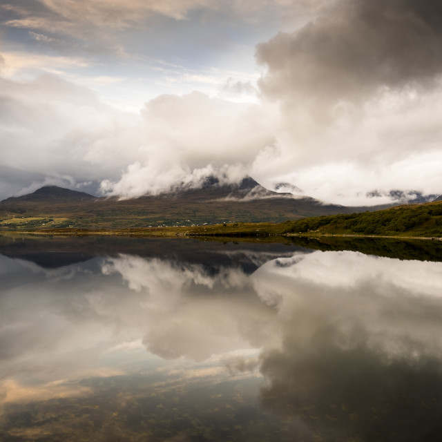 """""""Mountain Reflections"""" stock image"""