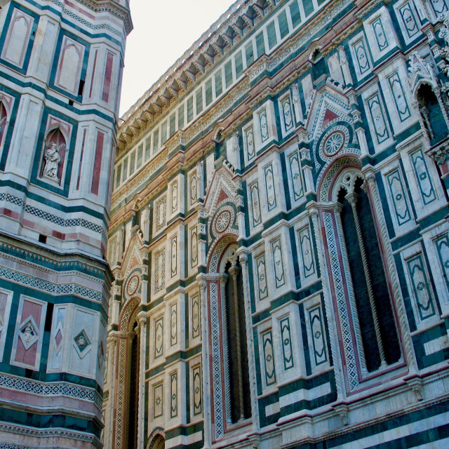 """""""Marble detail of the Florence Cathedral"""" stock image"""