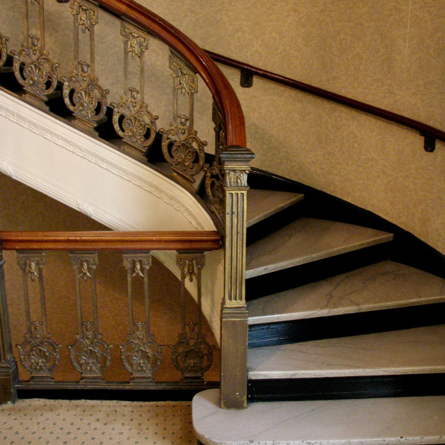"""""""Hotel staircase"""" stock image"""