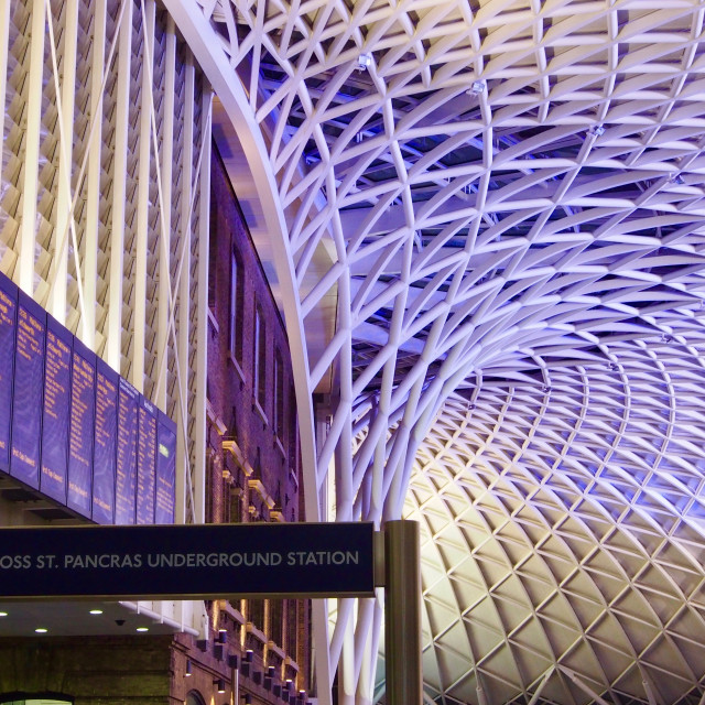 """King's Cross Station, London"" stock image"