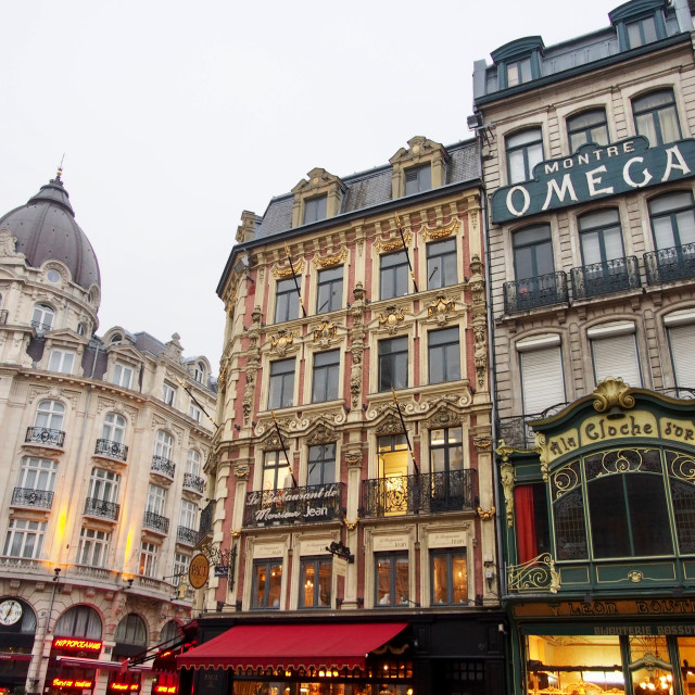 """""""Buildings in Lille, France"""" stock image"""