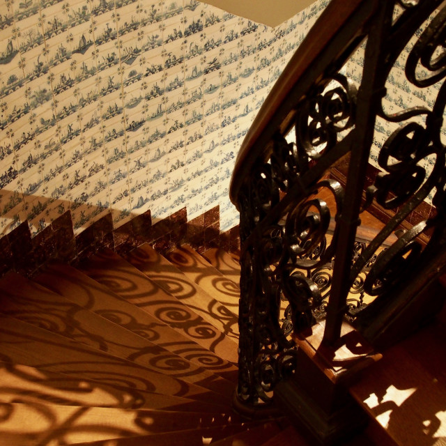 """""""Swirly Staircase"""" stock image"""