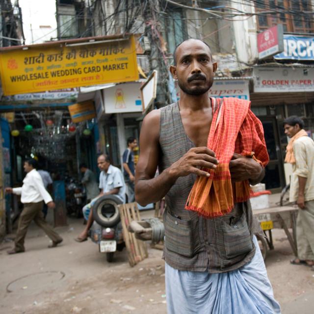 """Laborer, Old Delhi, India_G3T7372"" stock image"