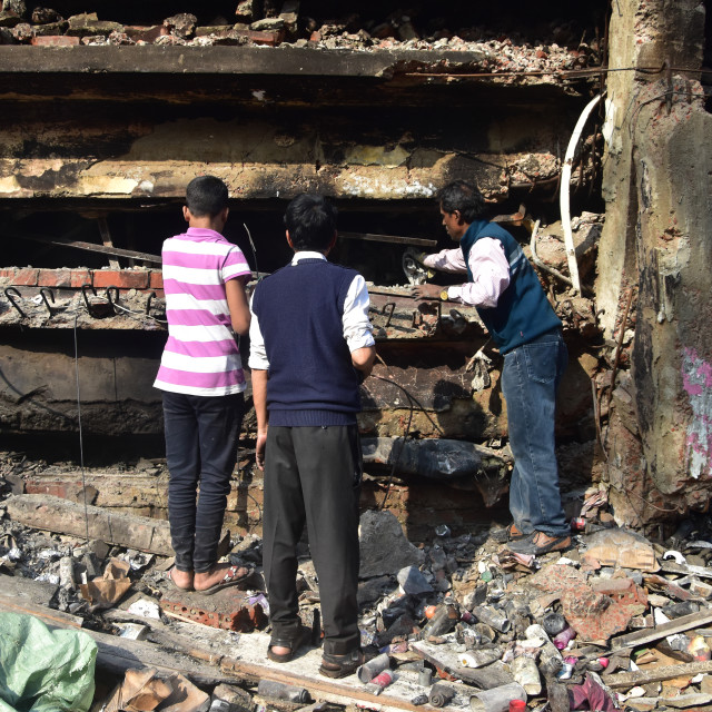 """Fire incident at Dhaka Gulshan DNCC Market"" stock image"