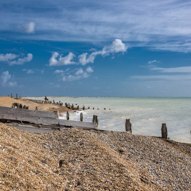 """Winchelsea Beach"" stock image"