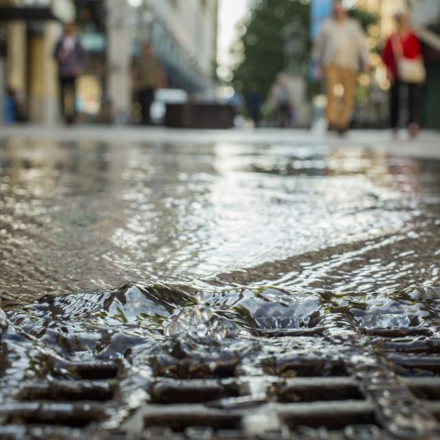 """Urban drainage"" stock image"
