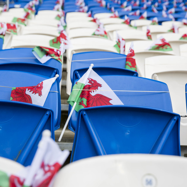 """Wales flags"" stock image"