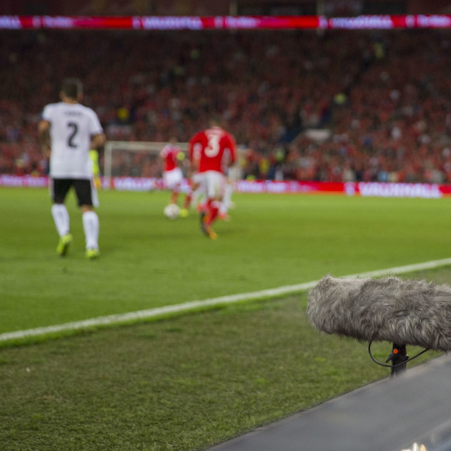 """Pitchside microphone"" stock image"