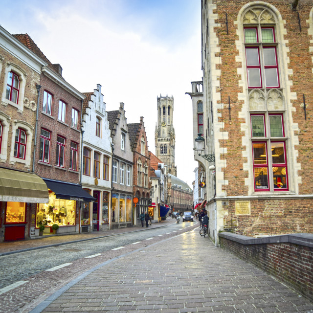 """A street in Bruges"" stock image"