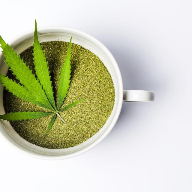 """Marijuana powder of dried cannabis leafs"" stock image"