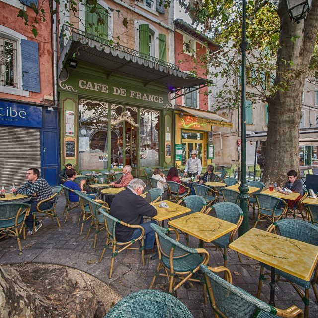 """Cafe de France"" stock image"