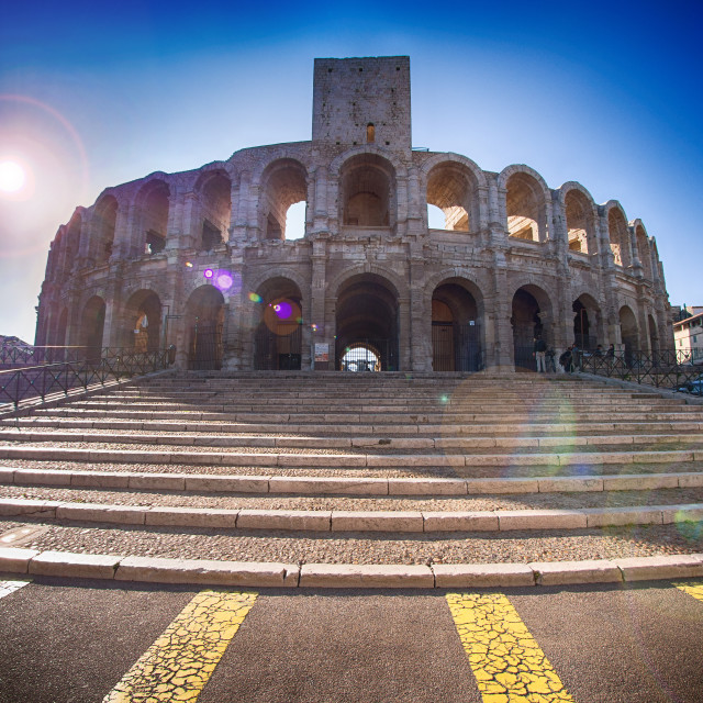 """Arles amphitheater, France"" stock image"