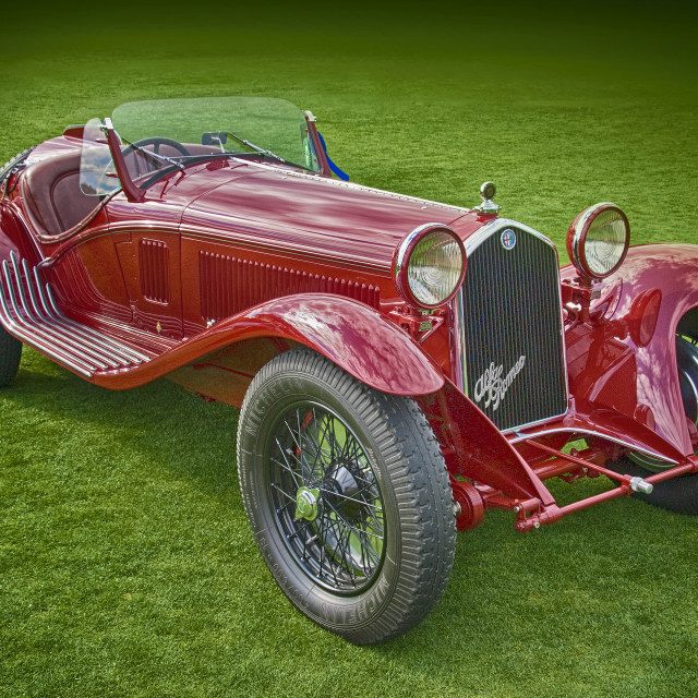 """Pre war Alfa Romeo race car"" stock image"