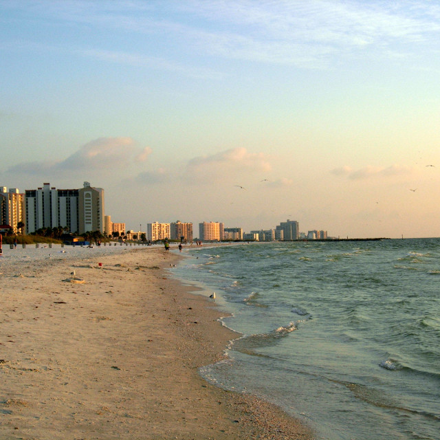 """Clearwater Beach, Florida - Pastel Sunset"" stock image"