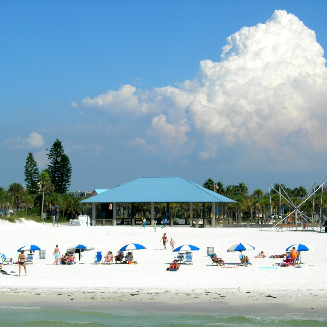 """Clearwater Beach, Florida - White Cloud"" stock image"