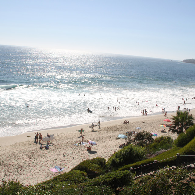 """Laguna Beach Coastline"" stock image"