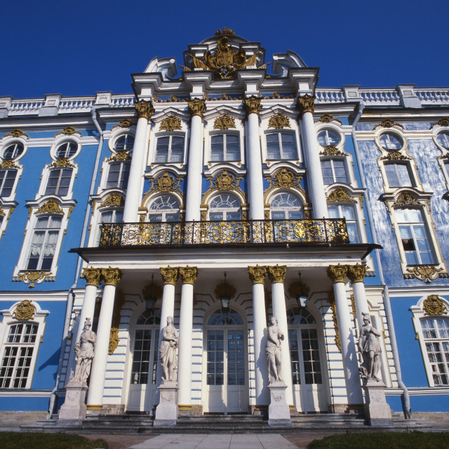 """Catherine Palace, St Petersburg, Russia"" stock image"