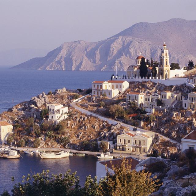 """Simi Island, Dodecanese Islands, Greece"" stock image"