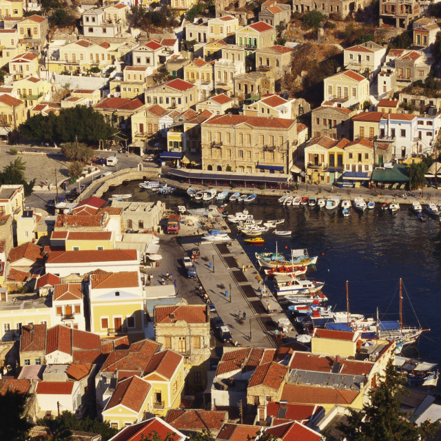 """Simi, Dodecanese Islands, Greece"" stock image"