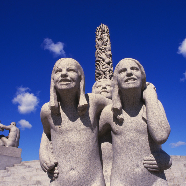 """Vigeland Sculpture, Frogner Park, Oslo, Norway"" stock image"