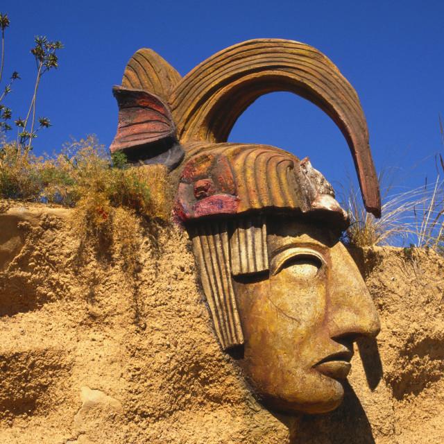 """Mayan Statue, Mazatlan, Mexico"" stock image"