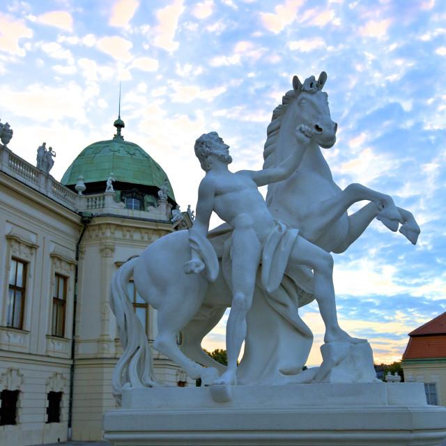 """Belvedere, UNESCO World Heritage Site, Vienna, Austria, Europe"" stock image"
