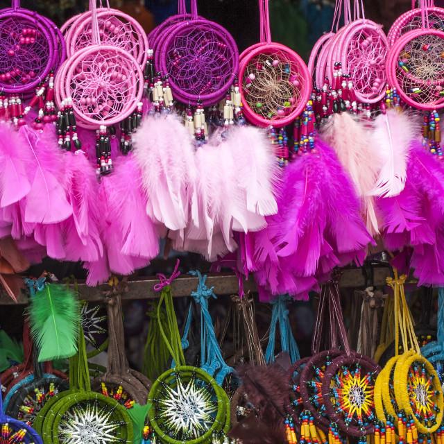 """""""Otavalo market, Souvenir shop, Imbabura Province, Ecuador"""" stock image"""