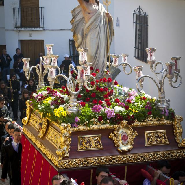 """Easter Procession, Ronda, Cadiz Province, Andalusia, Spain"" stock image"