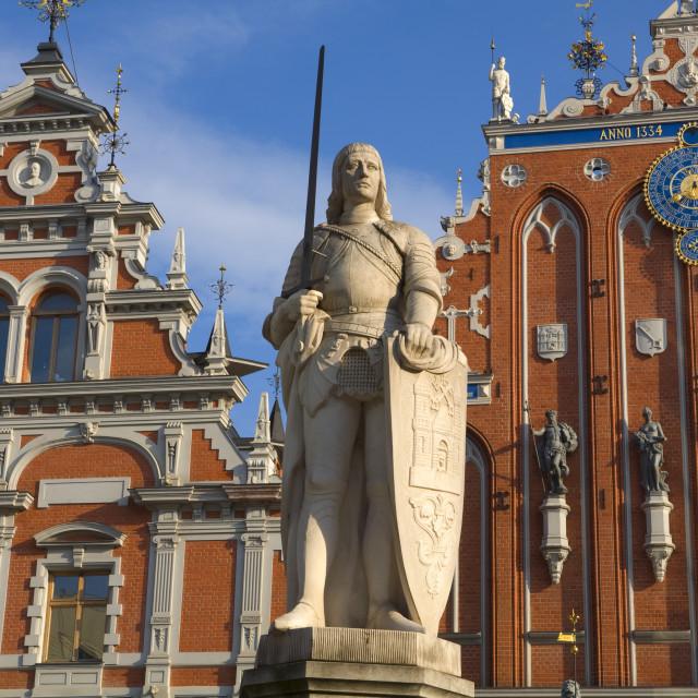 """Brotherhood of Blackheads House, Old Town, UNESCO World Heritage Site, Riga,..."" stock image"