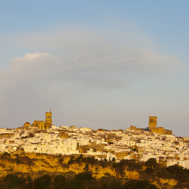 """Arcos De la Fontera, Cadiz Province, Andalusia, Spain"" stock image"