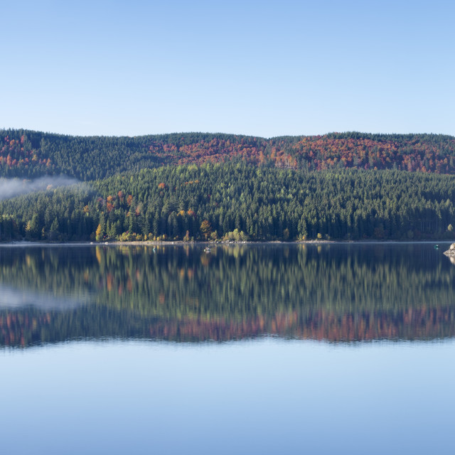 """""""Schluchsee Lake, Black Forest, Baden Wurttemberg, Germany"""" stock image"""