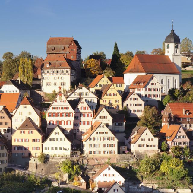 """Altensteig, Black Forest, Baden Wurttemberg, Germany"" stock image"