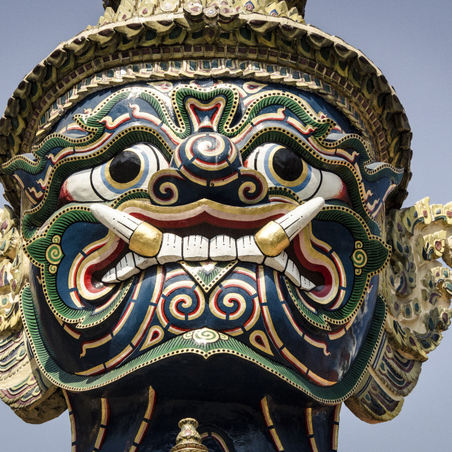 """Mythical temple guard (Yaksha), Wat Phra Kaew, Bangkok, Thailand, Southeast..."" stock image"